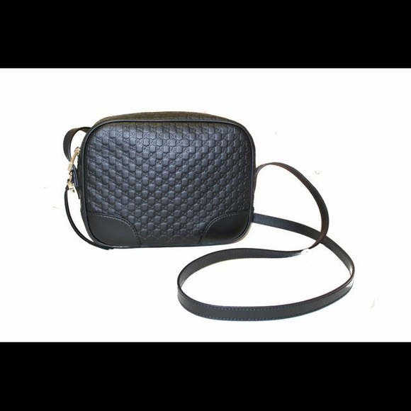 7fa9cc111ad6 Gucci Handbags - Gucci Bree Micro Gg Black Leather Cross Body Bag